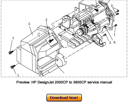 HP DesignJet 3000CP 3500CP 3800CP Service Repair Manual