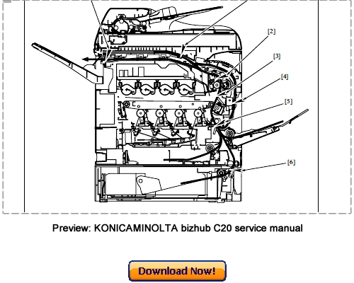 Free KONICA MINOLTA Magicolor 2490MF Service Repair Manual