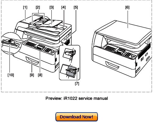 Canon iR1022A iR1022F iR1022i iR1022iF Service Repair