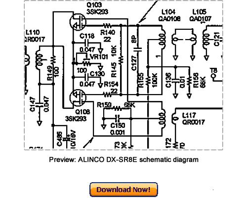 ALINCO DR-SR8T DR-SR8E Service Repair Manual Download