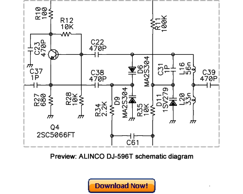 ALINCO DJ-596T DJ-596E Service Repair Manual Download