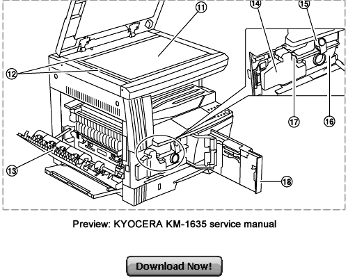 KYOCERA Service KM-2035 KM-1635 Repair Manual Download