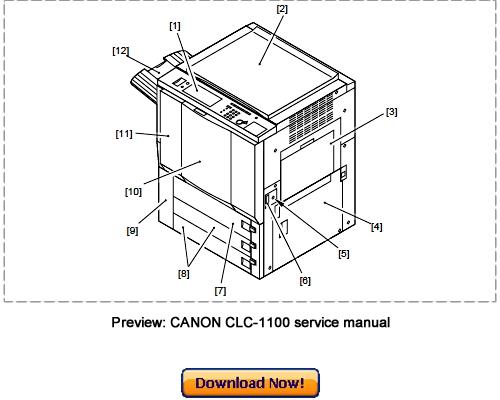 Canon CLC-1100 CLC-1120 CLC-1130 CLC-1140 Service Repair