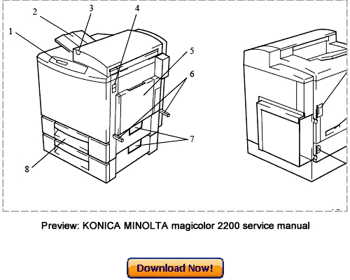 KONICA MINOLTA QMS Magicolor 2200 Service Repair Manual