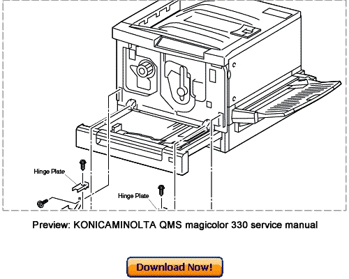 KONICA MINOLTA 330 Service Repair Manual Download