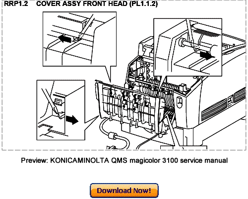 KONICA MINOLTA 3100 Service Repair Manual Download