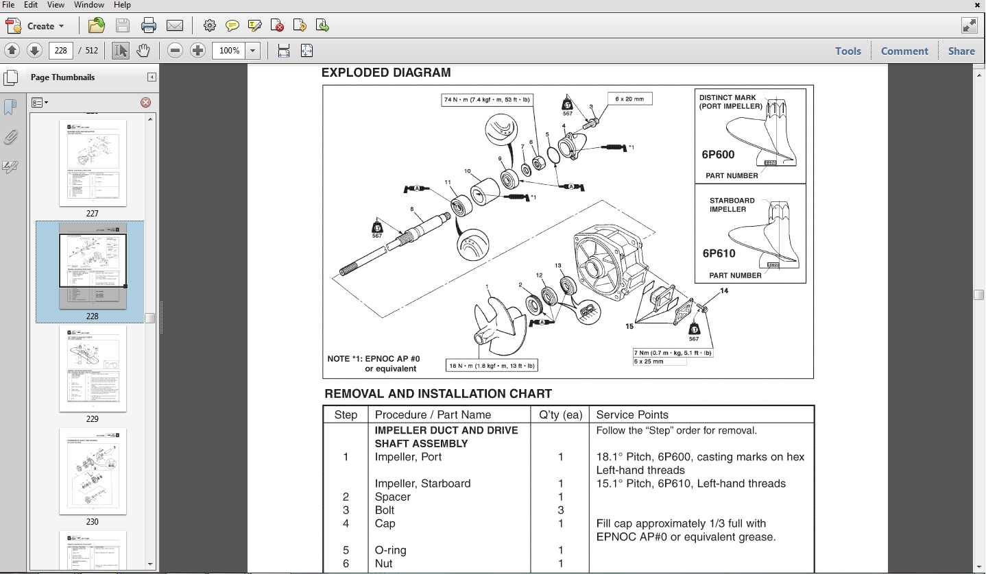 yamaha virago wiring diagram 1998 jeep wrangler ignition 2008 212x / 212ss boat service manual - download manuals &am...