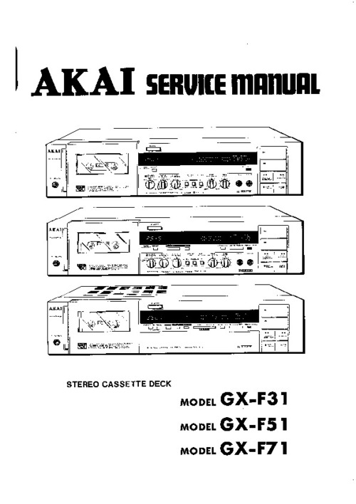 Free Akai VS-A77 Video Cassette Recorder Service Manual