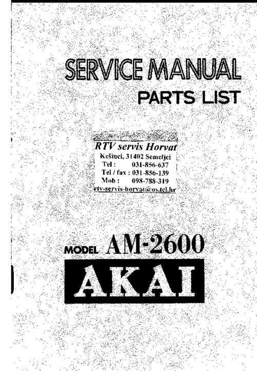Free Akai GX-280D-SS GX-280D Service Manual Download