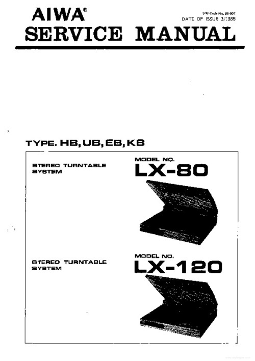 Free TEAC X-10R/X-7R OWNER MANUAL AND SERVICE MANUAL