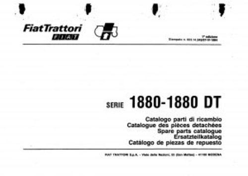 Fiat 1880-1880DT Service Parts Catalog Tractor Manual PDF