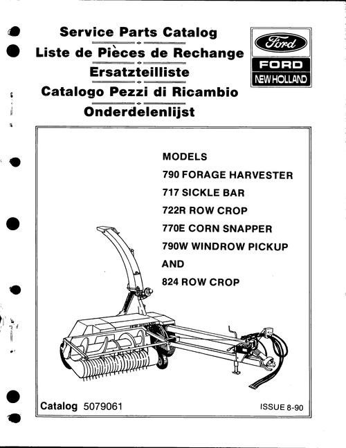 Ford New Holland 790 Forage Harvester Service Parts