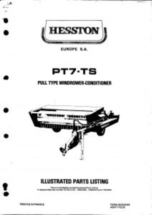 Hesston PT7-TS Pull Type Service Parts Catalog PDF Tractor