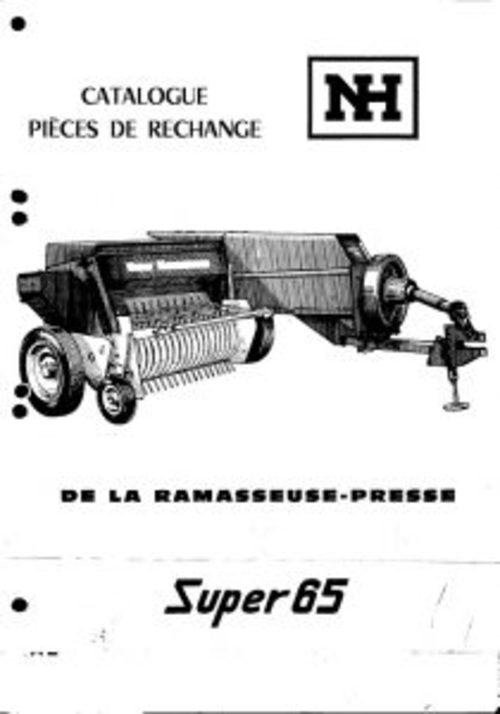 New Holland Super 65 Baler Service Parts Catalog PDF