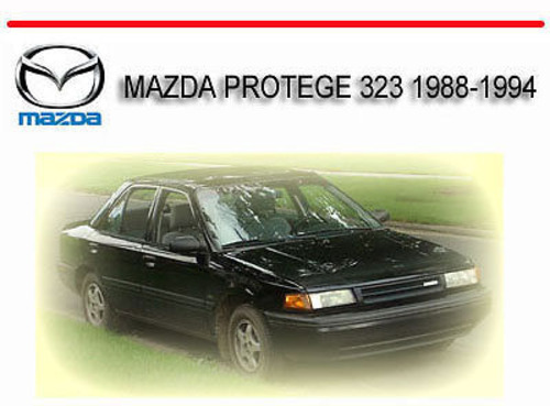 Mazda Familia Proteacutegeacute Parts And Electrical System Diagram