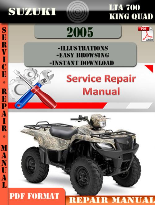 2005 Suzuki King Quad 700 Service Manual