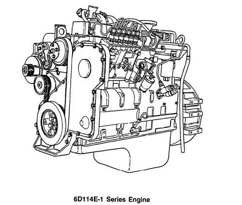KOMATSU S6D114E-1, SA6D114E-1, SAA6D114E-1 SERIES ENGINE