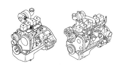 KOMATSU KDC 410 & 610 SERIES ENGINE SERVICE SHOP REPAIR