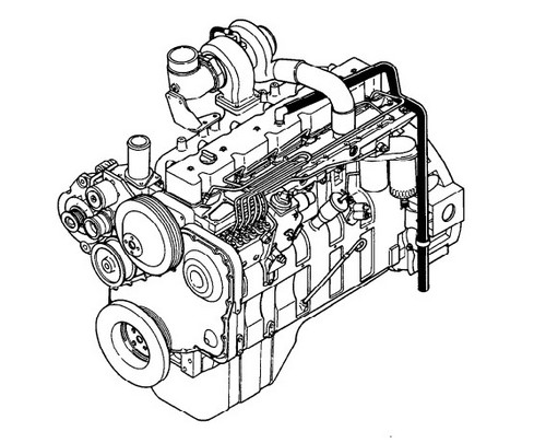 KOMATSU KDC 614 SERIES ENGINE SERVICE SHOP REPAIR MANUAL