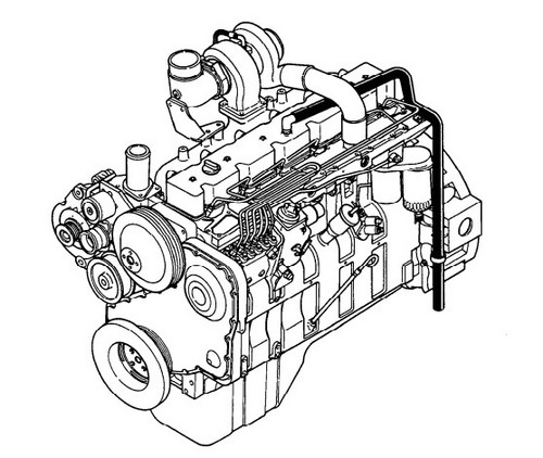 KOMATSU KDC 614 SERIES ENGINE TROUBLESHOOTING AND REPAIR