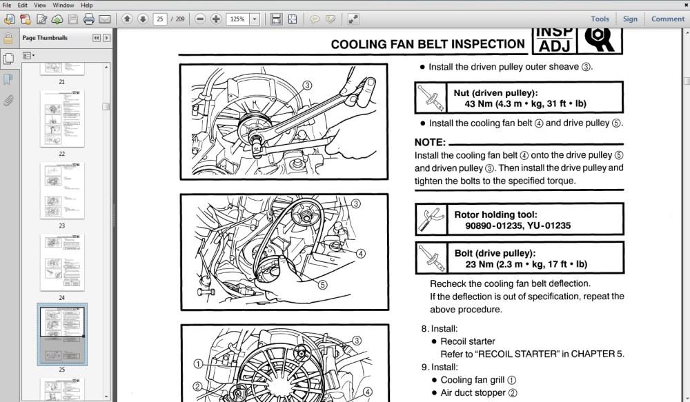 medium resolution of 1987 yamaha banshee atv service repair maintenance overhaul manual