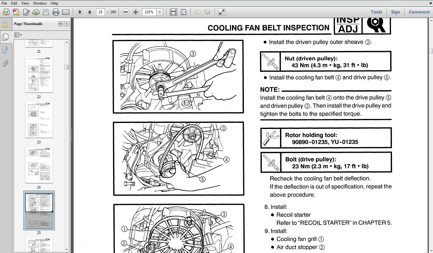 hight resolution of 1987 yamaha banshee atv service repair maintenance overhaul manual