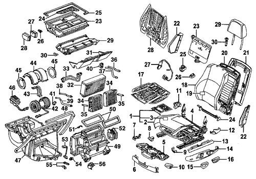 MERCEDES ML320 ML350 ML500 ML550 2006-2010 PARTS MANUAL