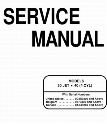 Mercury Mariner 30 Jet 40 Service Manual 2 Stroke