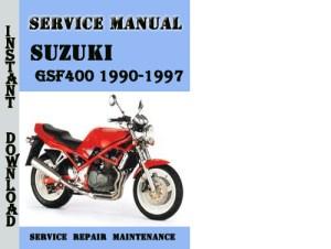 Suzuki GSF400 Bandit 19901997 Service Repair Manual Pdf  Downloa