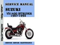 Suzuki VS1400 Intruder 1987-1993 Service Repair Manual Pdf ...