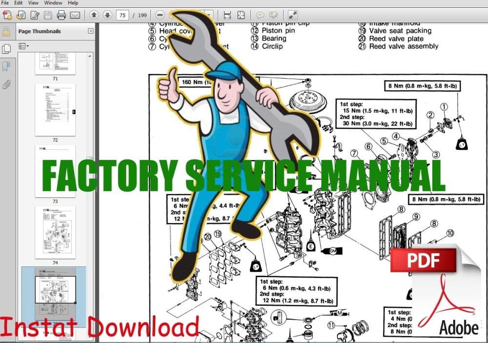 medium resolution of mercury 4 stroke service repair manual 25 big foot