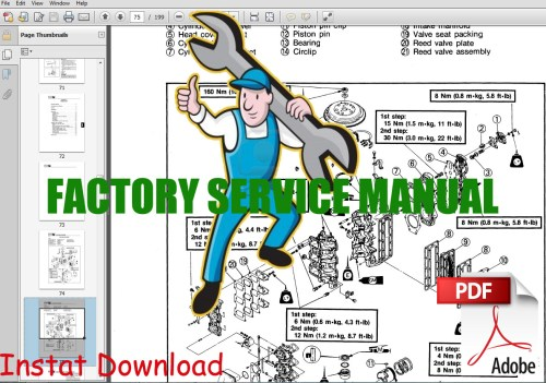 small resolution of mercury 4 stroke service repair manual 25 big foot