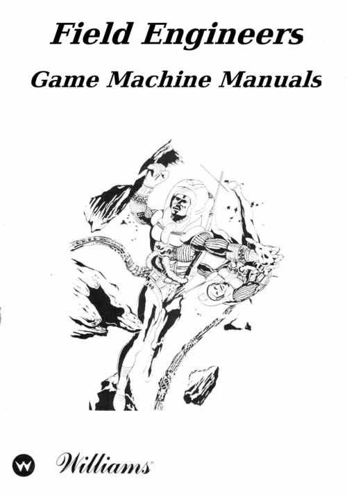 Williams Blackout Pinball machine Service manual