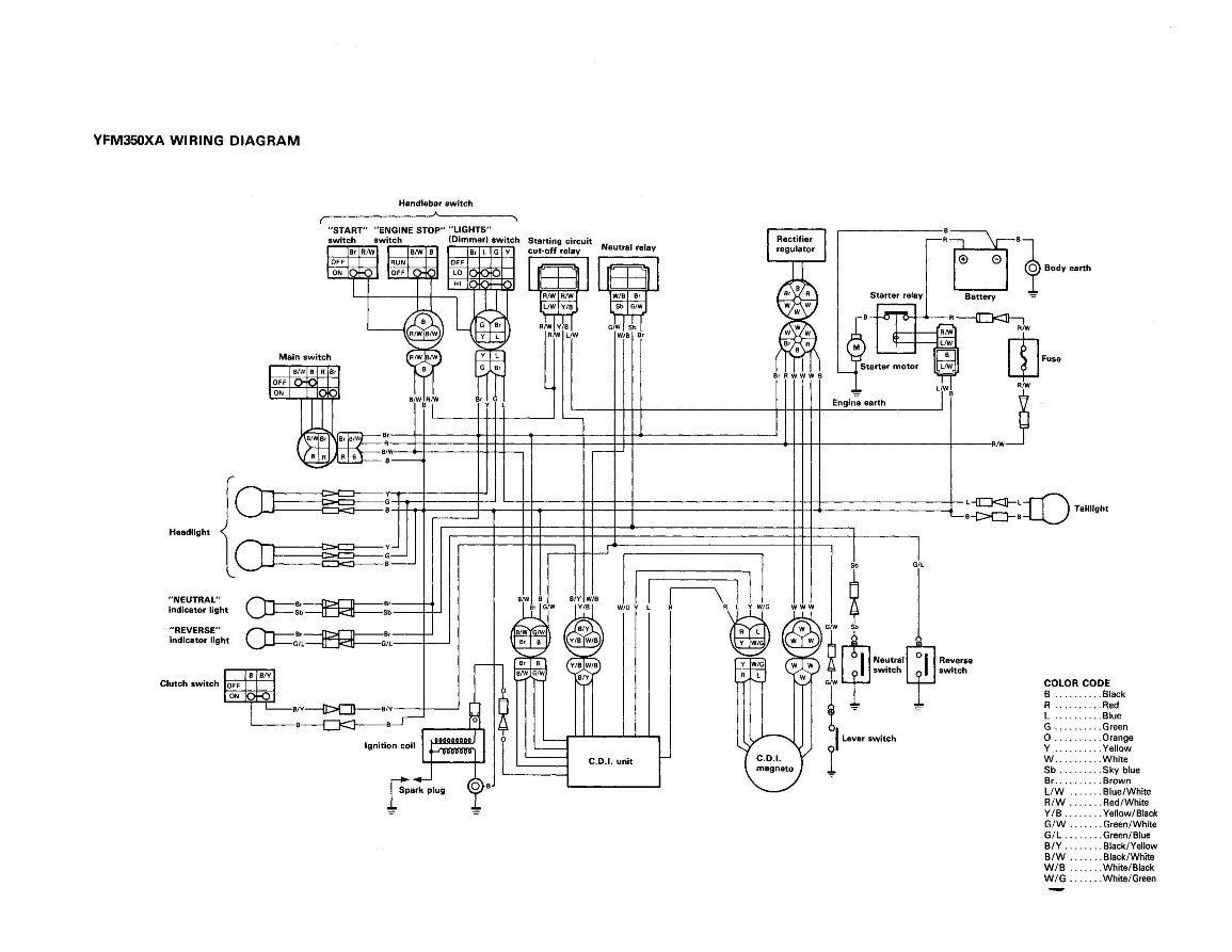 Yamaha Grizzly 660 Schematics, Yamaha, Free Engine Image