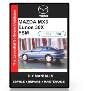 Mazda MX3 Eunos 30X Workshop Manual 1991  1998  Download Manuals