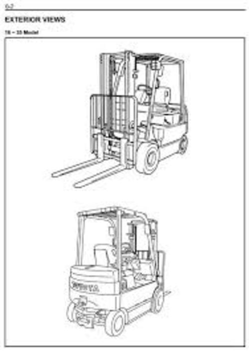 Toyota Electric Forklift Truck 5FBC13-30 Service Manual