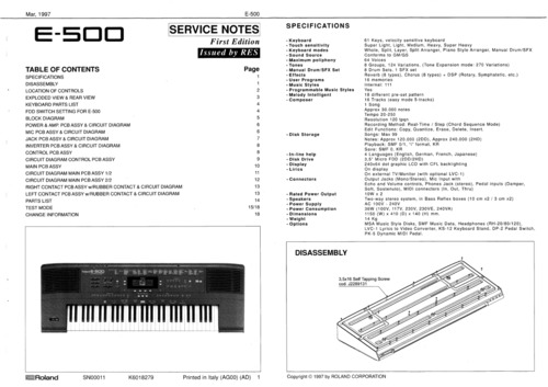 Free Yamaha MM8 synthesizer service manual, mm-8 Download