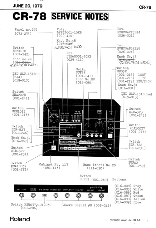 Free Roland w30 w-30 complete service manual Download