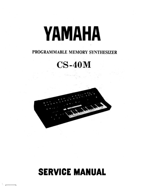 Yamaha cs-40m cs40m complete repair service manual