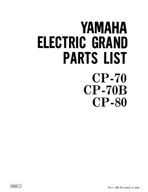 Yamaha cp70 cp-70 cp70b cp-70b cp80 cp-80 service manual