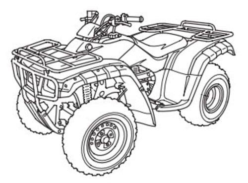 Honda TRX TM/TE TRX350 FM/FE 2000,2001,2002,2003 SERVICE