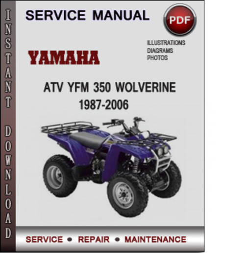 1989 Yamaha Yfm 350 Service Manual