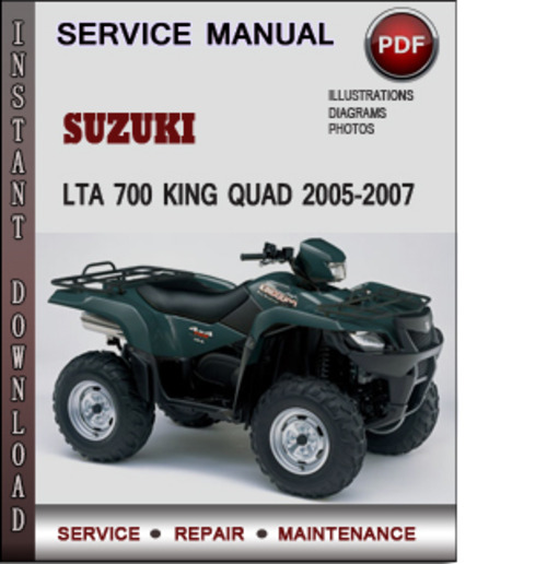 Step By Step Wiring Diagrams Suzuki Lta 700 King Quad 2005 2007 Factory Service Repair