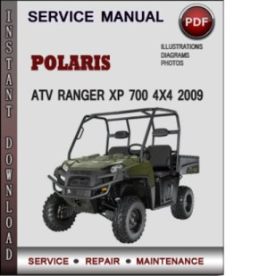 Polaris ATV Ranger XP 700 4x4 2009 Factory Service Repair