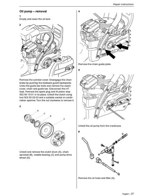 Husqvarna Chainsaw Workshop Manual Model 357XP/359