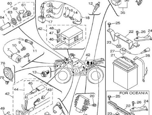 2001 Yamaha ATV YFM4AN YFM400FWAN YFM400FWA YFM400FA Parts