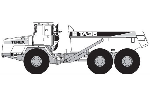 Terex TA35 Articulated Dumptruck Service Repair Manual
