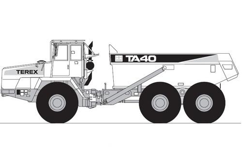 Terex TA40 OCDB Articulated Dumptruck Service Repair