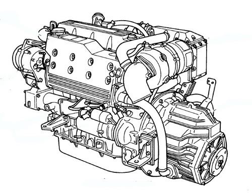 Yanmar Marine Diesel Engine 6LY2-STE 6LY2A-STP 6LYA-STP