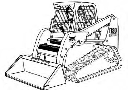 Bobcat T180 Compact Track Loader Service Repair Manual